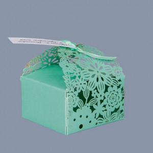 Marturii nunta cutiute floare verde