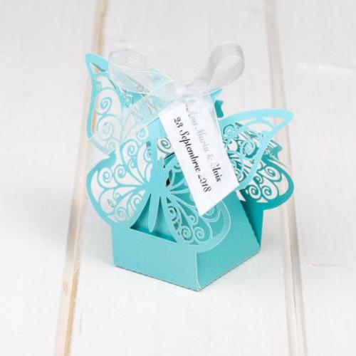 Marturii botez cutiute fluture bleu