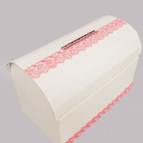 Cufar dar botez dantela roz