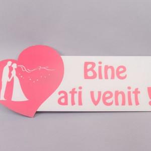 Decor nunta inima Bine ati venit