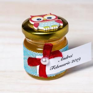 Marturii borcanele miere botez cu bufnita