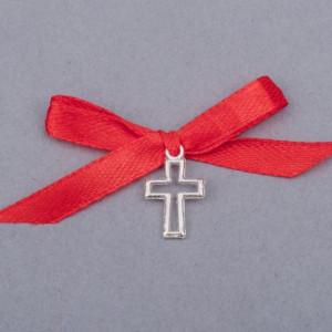 Cruciulite botez decupate cu fundita rosie