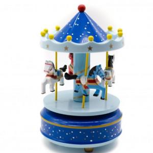 Carusel muzical albastru