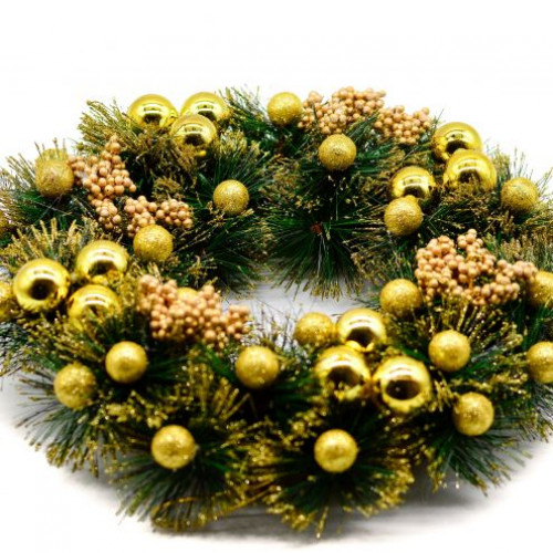Coronita de Craciun cu decor auriu