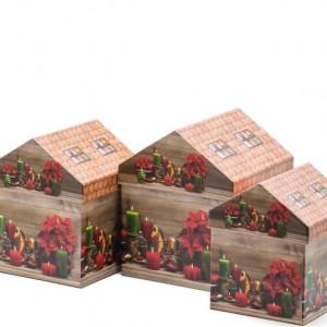 Set 3 cutii cadou casute
