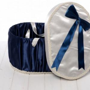 Cutie pentru trusou de botez bleumarin