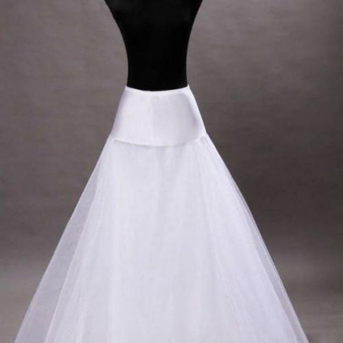 Jupon rochie de mireasa linie A cu un cerc