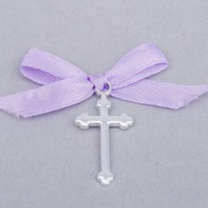 Cruciulite botez simple cu fundita lila