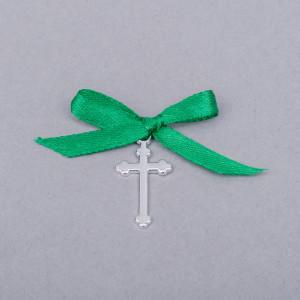 Cruciulite botez simple cu fundita verde