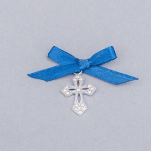 Cruciulite botez elegante cu fundita albastra