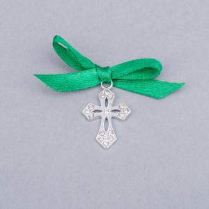 Cruciulite botez elegante cu fundita verde