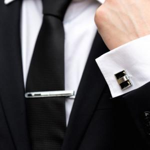 Set butoni camasa dreptunghiulari cu ac cravata