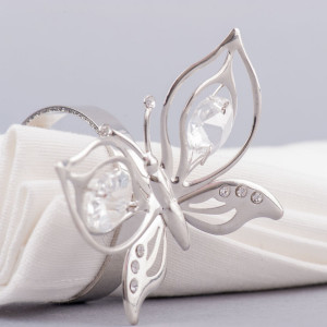 Inel servetele Fluture botez
