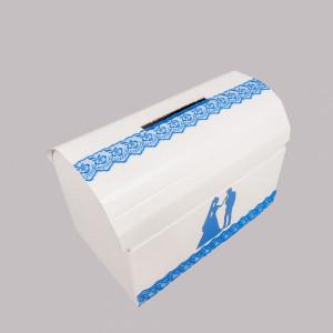 Cufar dar nunta dantela albastra