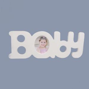Decor botez alb Baby cu fotografie