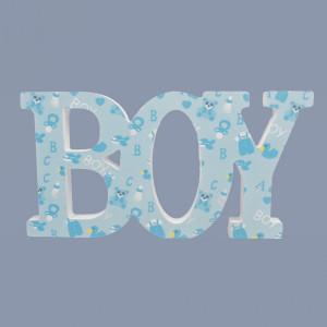 Decor botez Boy bleu cu model