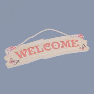 Decor botez Welcome roz