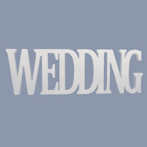 Decoratiune lemn alb Wedding