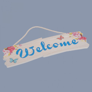 Decor nunta Welcome albastru