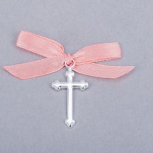 Cruciulite botez simple cu fundita piersica