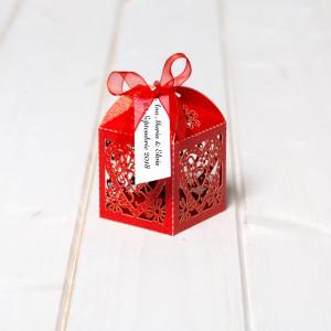 Marturii nunta cutiute inima rosie