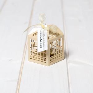 Marturii nunta cutiute vrabii si inimi ivory