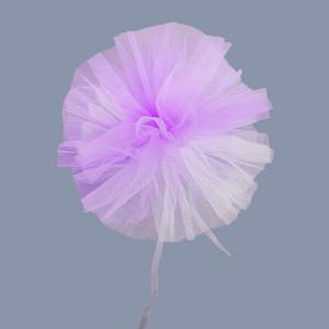 Decor masini nunta din tulle lila