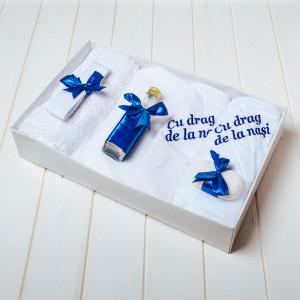 Trusou botez bleumarin Cu drag de la nasi