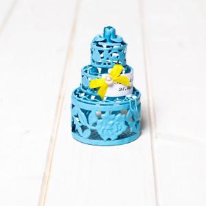 Marturii nunta tort bleu din din sarma