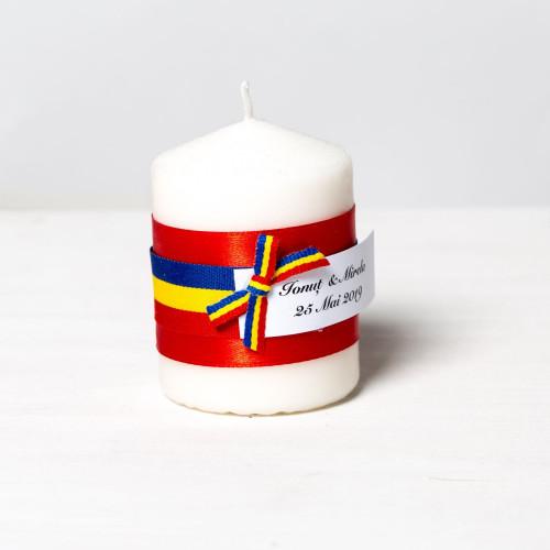 Marturii lumanari botez steag tricolor