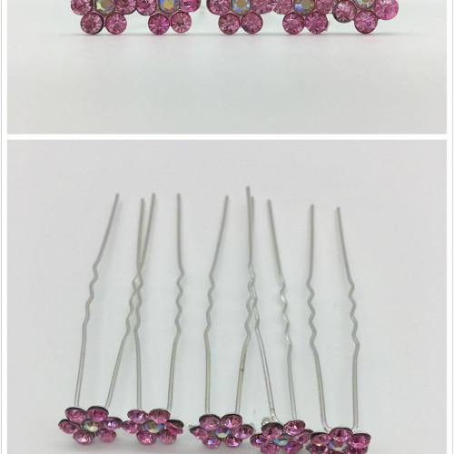 Ace de par mireasa floricele roz