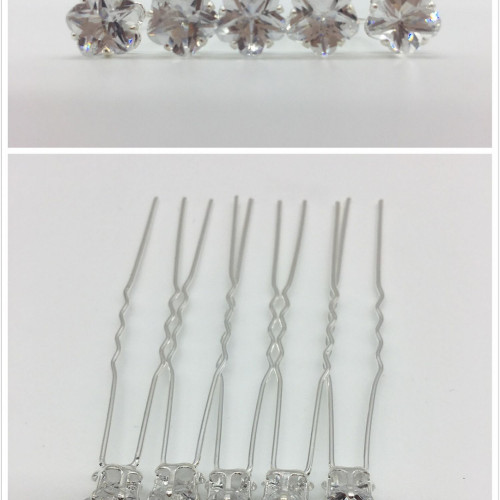 Ace de par cristale floare