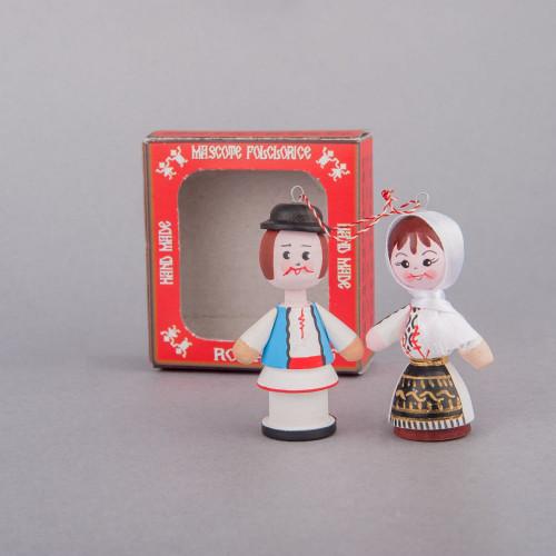 Marturii figurine traditionale din lemn - port popular Olt