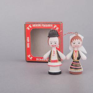 Marturii figurine traditionale din lemn - port popular Bihor