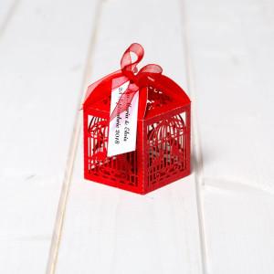 Marturii de nunta cutiute colivie rosie