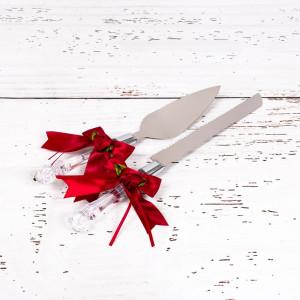Set tacamuri tort nunta trandafiri