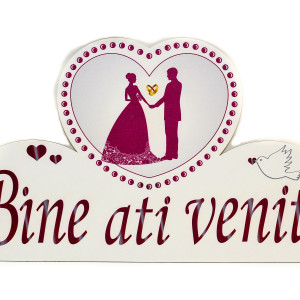 Decor nunta visiniu Bine ati venit
