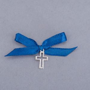 Cruciulite botez decupate cu fundita albastra