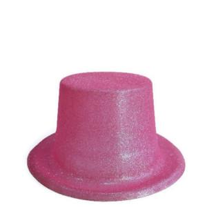 Palarie petrecere cu sclipici roz