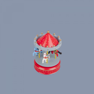 Carusel muzical rosu