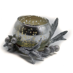 Lumanare parfumata argintie