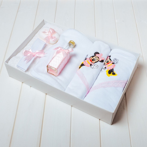Trusou botez roz cu buline Minnie Mouse