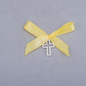 Cruciulite botez decupate cu fundita galbena