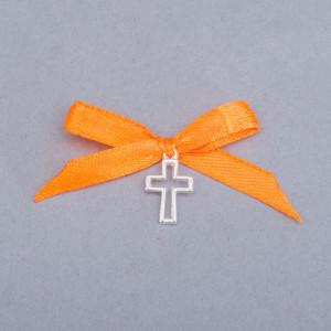 Cruciulite botez decupate cu fundita portocalie