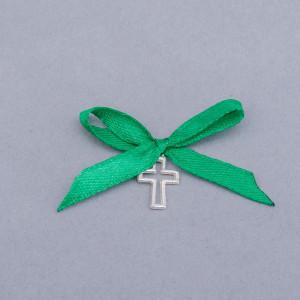 Cruciulite botez decupate cu fundita verde