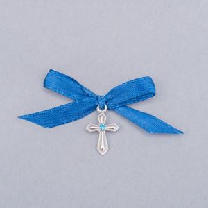 Cruciulite botez cu pietricica si fundita albastra