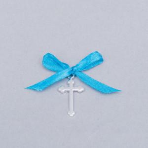 Cruciulite botez simple cu fundita turcoaz
