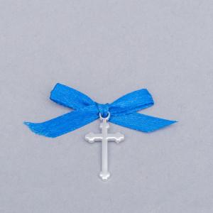 Cruciulite botez simple cu fundita albastra
