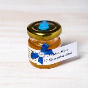 Marturii botez borcanele miere cu chitara bleu