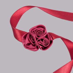 Corsaj satinat trandafiri visinii